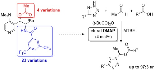 Enantioselective catalysis by chiral pyridines