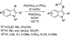 Catalytic Direct Acetoxylation of Indoles