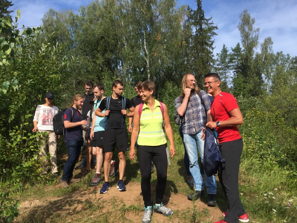 Our team, Hiking Day